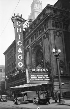 Chicago, Theatre, Chicago, IL - February Photo by George Mann of the comedy dance team, Barto and Mann. Theater Chicago, Chicago City, Theatre, Chicago Pictures, Black And White Aesthetic, My Kind Of Town, Old Movies, Illinois, History