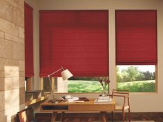 Motorized Design Studio™ Roman Shades, available at Edgewood Custom Interiors in Weed, CA