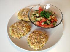 Vegan and Healthy : Kichererbsen-Bohnen-Backlinge mit Tomaten-Salsa