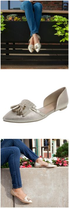 For a professional, yet stylish, look, slip into the Amelie Kiltie Flat from designer @csiriano.