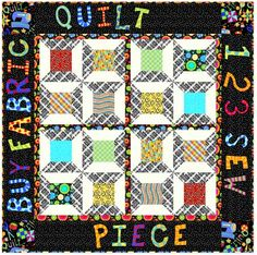 """Finished Size: 47-1/2"""" x 47-1/2"""". This free quilting pattern is brought to you by In The Beginning Fabrics. Get the free quilt pattern here"""