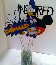 Donald Duck Center Piece Birthday Partys by InspiredbyLilyMarie, $10.00