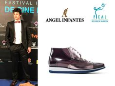 """Lo mejor de la semana en la """"Alfombra Roja"""": El actor Jorge Pobes #Acacias38 con zapatos de Angel Infantes en el Festival Internacional de Cine de Almería."""