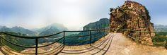 panorama photo from Henan by yunzen liu. Henan celestial Mountain(Tianjieshan)Scenic Area——the Ladder in the sky Sky 360, Panorama 360, Panoramic Photography, Ladder, Mountain, Celestial, Outdoor Decor, Archive, China