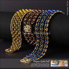 Tutorial: Dragon Scales Cuff by maneklady | JewelryLessons.com