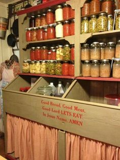 Lets Eat In, Can Storage, Canning 101, Dream House Interior, Earthship, Old Farm, Names Of Jesus, Farmers Market, Liquor Cabinet