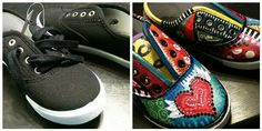 $1 shoes transformed!    #painted #kids #shoes #sneakers