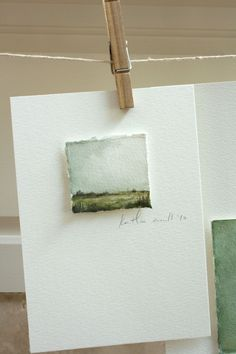 clean and simple - watercolor card