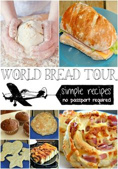 These are amazing bread recipes from all over the world! Kid approved and simple enough that every one can help in the kitchen.