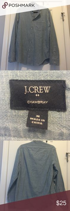 JCrew Chambray long sleeve button up JCrew Chambray long sleeve button up. Brand new. Never worn and never washed. Ordered online final sale and it doesn't fit me. J. Crew Tops Button Down Shirts