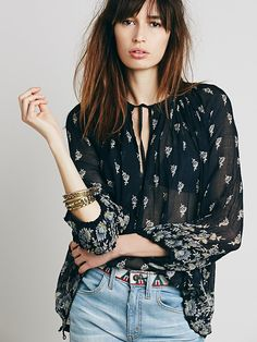 Free People FP ONE Drippy Pattern Pintucks at Free People Clothing Boutique