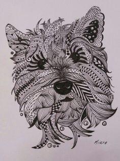Resultado de imagen de perro mandala                                                                                                                                                                                 Más