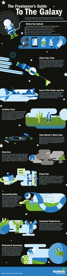 Freshbooks Infographic: The Freelancer& Guide to the Galaxy