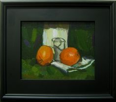 Oranges on Cloth by Joshua Kadtke, Painting - Oil | Zatista