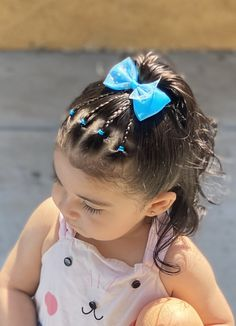 Toddler Hair Dos, Easy Toddler Hairstyles, Easy Little Girl Hairstyles, Cute Hairstyles For Kids, Cute Girls Hairstyles, Mixed Baby Hairstyles, Pretty Hairstyles, Girl Hair Dos, Hair Styles