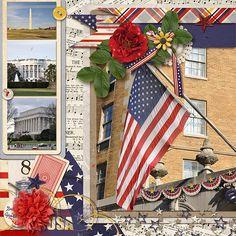Patriotic Digital Scrapbooking Kit by Amber LaBau