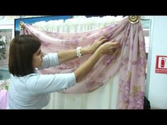 Como hacer un Drapeado Informal. 3/5 - YouTube Swag Curtains, Double Rod Curtains, Curtain Designs, Curtain Rods, Sewing Tutorials, Bridal Jewelry, Youtube, Outdoor Decor, Sonia Franco
