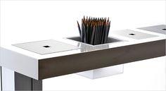 MILK working desk. Arbejdsbord, skrivebord, hæve/sænkebord.