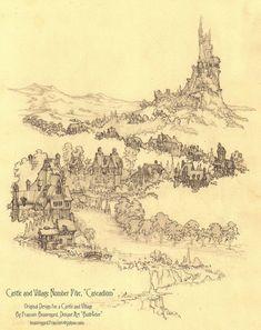 Castle and Village Number Five, Cascadium by Built4ever on deviantART