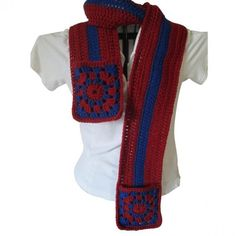 Team Scarf with Pockets #scarves #clothing #style #model 9thelm.com