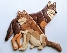 Items similar to Wolves Intarsia Wall Hanging Wooden Wolf Carving Wood Wildlife Scrollsaw Animal Forest Wolf Pack North American Spirit Animal on Etsy Intarsia Wood Patterns, Wood Carving Patterns, Wood Carving Art, Intarsia Woodworking, Woodworking Patterns, Bois Intarsia, Wood Projects That Sell, Stick Art, American Spirit
