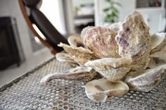 DIY Oyster Shell Candleholder - Table and Hearth