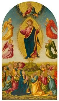 NERI DI BICCI (1418 Florence 1492) The Ascension of Christ. Circa 1475-80.  #Koller #Auktionen #Auctions