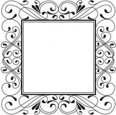 Sue Wilson Designs - Cling Stamp - Delicate Deco Square  $12.35