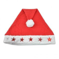 Santa hat with flashing star shaped lights on the white trim with a pom-pom. Perfect to wear with any Santa suit or to add a festive feel to any outfit during the holiday season. Lights are battery operated. Christmas Costumes, Santa Christmas, Santa Suits, White Trim, Star Shape, Santa Hat, Battery Operated, Costume Accessories, Fundraising