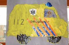 * Ambulance: verven, knippen/plakken en tekenen!