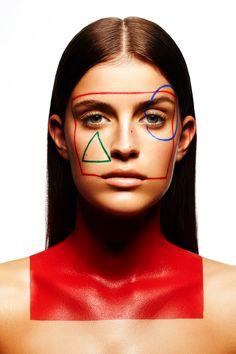 makeup look Geometry - Petrine Houlberg by Christophe Donna+