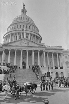 11/24/63 - JFK's casket arrives at the Capitol to lie in state in the Rotunda.