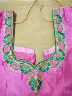 Patch Work Blouse Designs, Maggam Work Designs, Hand Work Blouse Design, Simple Blouse Designs, Dress Neck Designs, Bridal Blouse Designs, Mirror Blouse Design, Peacock Embroidery Designs, Jewelry Design Drawing