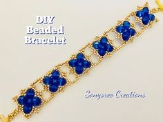 (21) DIY Beaded Bracelet.Statement Beaded Bracelet . How to make beaded bracelet - YouTube