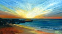 Sunset over Jacobsbaai.  Oil on canvas. 90 x 50cm.  Private Collection: Reneé Goldsworthy.
