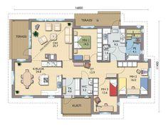 Kastelli Moderni 158 m2 Bungalow, House Plans, Floor Plans, Flooring, How To Plan, Projects, Home, Design, Decor