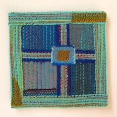 Old Farm Window, Victoria Gertenbach, part of a series of tiny quilts