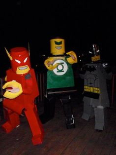DIY lego costumes.. I could see the boys liking this idea!