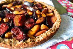 Plum & Mango Tart with Gluten-Free Crust