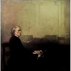 Posterazzi The Steinway Collection 1919 Liszt Canvas Art - John C Johansen (24 x 36)