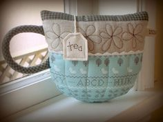 Teacup pillow by PatchworkPottery, via Flickr