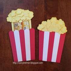 Nancy's Scrappin' and Stamps: Popcorn Gift Card Holder by Lori Whitlock Itunes Gift Cards, Free Gift Cards, Diy Cards, Tarjetas Diy, Popcorn Gift, Movie Gift, Gift Card Giveaway, Homemade Cards, Diy Gifts