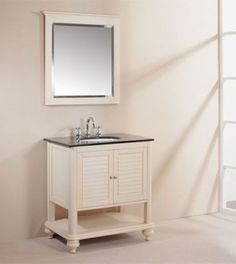Gallery Website Xylem Islander Tropical White Bathroom Vanity Solid Birch with Cherry Veneer