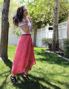 THE SISTERS FOUR: high-low skirt tutorial