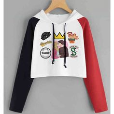 Hongma Sweatshirt for Women Girls Sweet Cute Finger Heart Love You Hip Hop Hoodie Long Sleeve Pullover Tops Blouse
