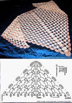¡El chal por el gancho, ha encontrado en el Contacto, simplemente y hermosamente! Plaid Au Crochet, Poncho Au Crochet, Crochet Diy, Crochet Shawls And Wraps, Crochet Scarves, Crochet Clothes, Crochet Shawl Diagram, Crochet Chart, Crochet Motif
