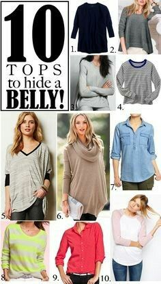 10 Tops to Hide a Belly (post-baby)