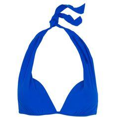 Heidi Klein Lisbon push-up bikini top (£115) ❤ liked on Polyvore featuring swimwear, bikinis, bikini tops, bright blue, pushup swimwear, tie-dye swimwear, tie bikini, push-up bikinis and push up swimsuit tops