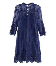 H Navy Lace Dress, $49.95