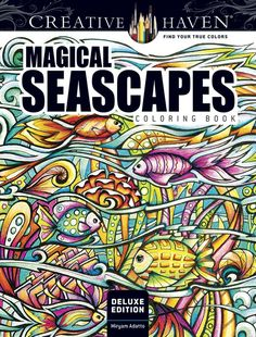Amazon Creative Haven Deluxe Edition Magical SeaScapes Coloring Book Adult